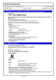 EG-Sicherheitsdatenblatt FÜLL- UND DÄMMSCHAUM - Lugato