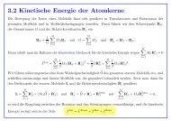 3.2 Kinetische Energie der Atomkerne