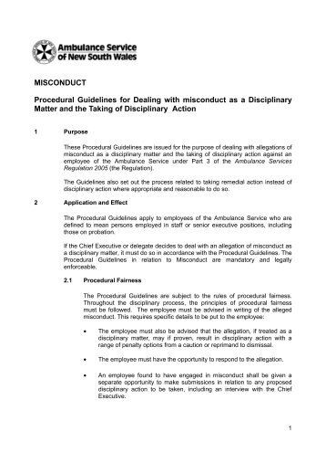 Professional Conduct Guidelines - B. Misconduct, October 2006