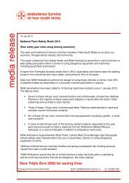 National Farm Safety Week 2013 - Ambulance Service of NSW
