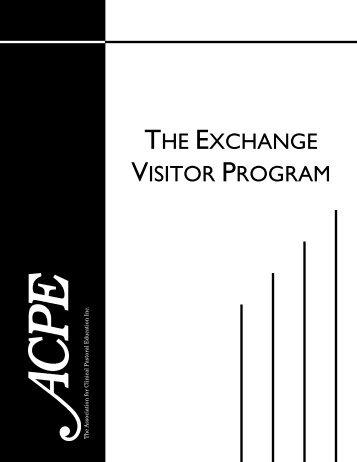 THE EXCHANGE VISITOR PROGRAM - ACPE