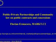 Public-Private Partnerships and Community law on public contracts ...