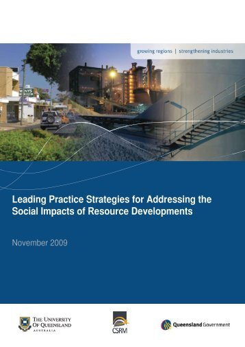 Leading Practice Strategies for Addressing the Social Impacts of ...