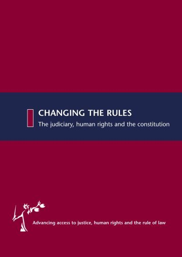 CHANGING THE RULES - Justice