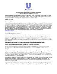 Unilever Global Opportunities in Customer Development - Shanghai ...
