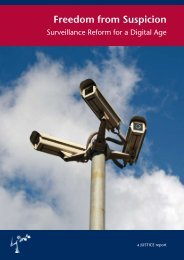 Freedom from Suspicion Surveillance Reform for a Digital ... - Justice