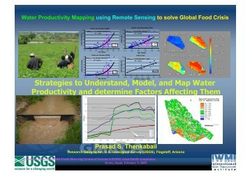 6-1. Water Productivity Mapping using Remote Sensing to solve ...
