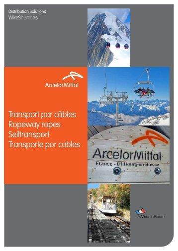 Transport par câbles Ropeway ropes Seiltransport Transporte por ...