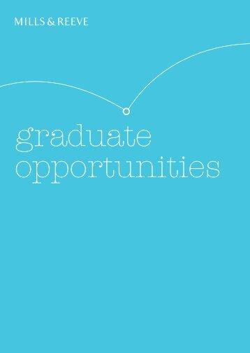 graduate brochure - Mills & Reeve