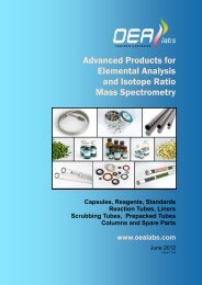 Advanced Products for Elemental Analysis and ... - OEA Labs Ltd