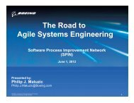 The Road to A il S t E i i Agile Systems Engineering
