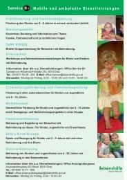 Mobile und ambulante Dienstleistungen - Lebenshilfe Graz und ...