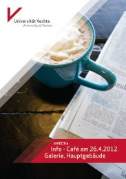 Info - Café am 26.4.2012 Galerie, Hauptgebäude - Universität Vechta