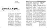 Violence, prise de parole et processus de civilisation - Revue des ...