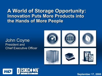 A World of Storage Opportunity - IDEMA