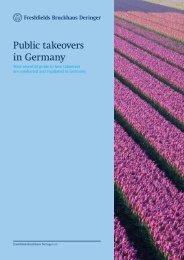 Public takeovers in Germany: June 2012 - Freshfields