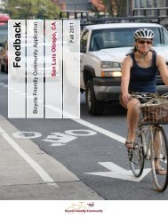 Bicycle Friendly Community Feedback, 2011 - the City of San Luis ...