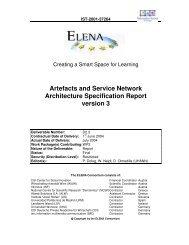 Artefacts and Service Network Architecture ... - Daniel Olmedilla