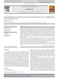 Brain mapping of psychological processes with psychometric scales ...
