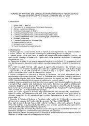 VERBALE DI RIUNIONE DEL CONSIGLIO DI DIPARTIMENTO DI ...