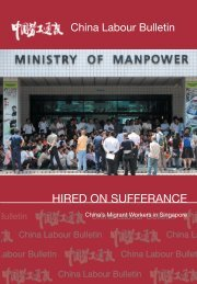 hired on sufferanCe - China Labour Bulletin