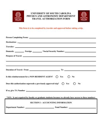 Copy Of Uos Travel Request Form