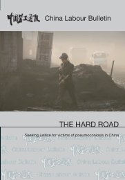 THE HARD ROAD - China Labour Bulletin
