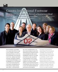 Gaastra International Footwear - The right SIZE
