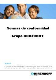 Normas de conformidad Grupo KIRCHHOFF - Kirchhoff Gruppe
