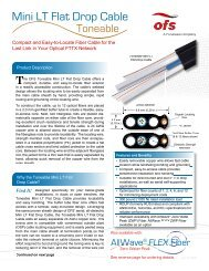 Toneable Mini LT Cable Brochure - OFS