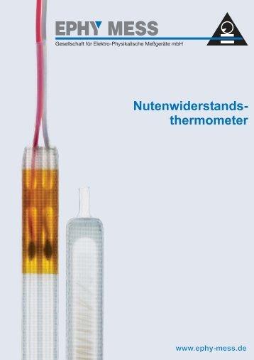 Bifilar gewickelte Nutenwiderstandsthermometer ... - Ephy Mess