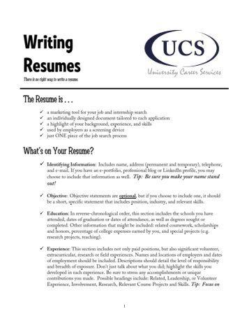 resume kfc example