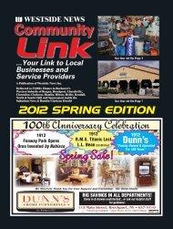 Spring Sale! - Westside News Inc.