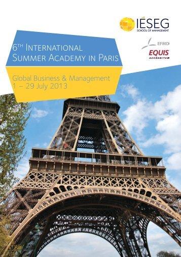 6th International Summer Academy in Paris - PUC Minas