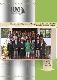 Batch Profile - IIM Ranchi