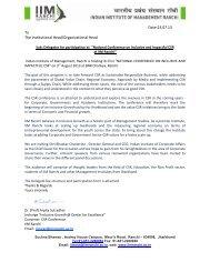 Inclusive and Impactful CSR - IIM Ranchi