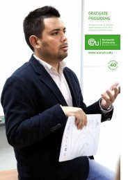 GRADUATE PROGRAMS - MBA
