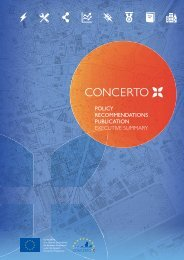 Publication on policy recommendations Executive summary - Concerto