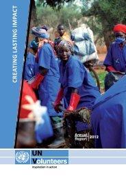 Creating Lasting Impact - United Nations Volunteers