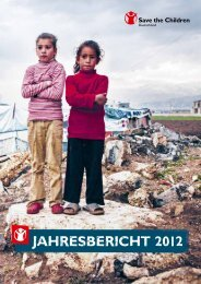Jahresbericht 2012 (PDF) - Save the Children