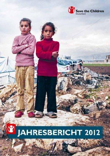 Jahresbericht 2012 (PDF) - Save the Children