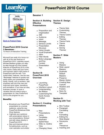 PowerPoint 2010 Course - Shadowbox Learning Services Inc.