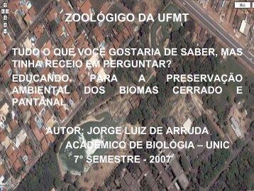 zoológico da ufmt - Secretaria de Estado de Saúde de Mato Grosso
