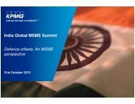 India Global MSME Summit Defence offsets: An MSME ... - CII