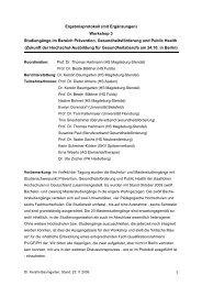 Ergebnisprotokoll (mit Ergänzungen) Workshop 3 Studiengänge im ...