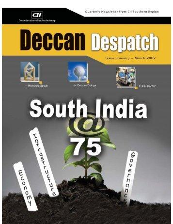 January – March 2009 | Deccan Despatch | 1 - CII