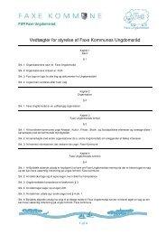Her kan du printe vedtægterne - Faxe Kommunale Ungdomsskole