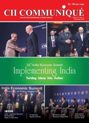 CII Communique - December, 2010