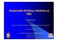 Frank Lam - Europe Green Building Forum