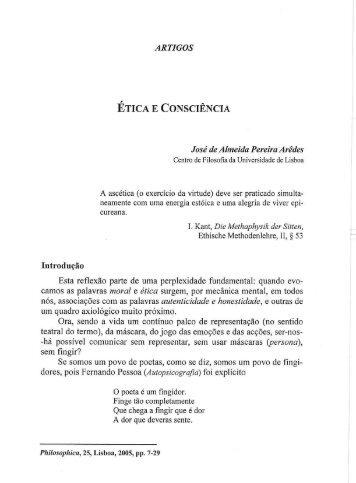 ÉTICA E CONSCIÊNCIA - Centro de Filosofia
